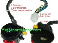 ATV Kill Switch 3 Functions 7 wires (9pin Female-plug)