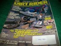 Dirt Rider,May 1990,Yamaha YZ250WRA, Suz DR350L