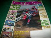 Dirt Rider, September 1990,1991 honda CR250M,Kaw