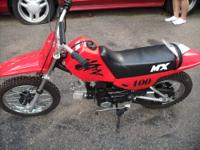 2005 mx 100CC chinese made dirtbike 4 speed