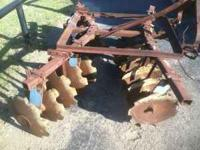 Ford disc, 6ft. very good blades- barely used-