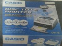 Brand New Casio CW-75 Disc Title Printer with Qwerty