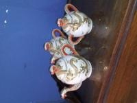 Tea set for 8. Old M red mark . Discontinued 1921. 8 of