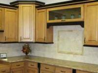 Cabinets from solid Alder, Birch, Maple, Oak, or Walnut