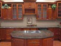 Only beautiful solid wood cabinets from solid Alder,