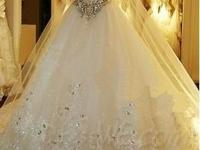 Desirable beading Sweetie lace-up watteau Train A-Line