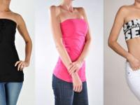 Discount rate ladies fashion tube top apparel. See our