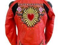 Designer, hand-embellished motorcycle jacket!Are you a