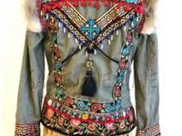 Boho Chic Couture designer hand-embellished jacket!To