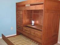 $300.00 obo This honey colored solid pine loft bed is
