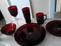Brand new Ruby Red Luminarc dishes. Received as a