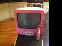 "Disney 13"" color TV/DVD in excellent condition."