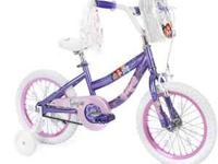 I have a Huffy 16 in Disney Princess purple and pink