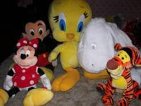 3 Extra Large and 2 Large Disney Stuff Animals