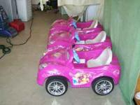 We are selling full working Barbie Power Wheel cars