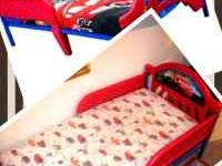 1 year old Cars toddler bed for sale, in excellent
