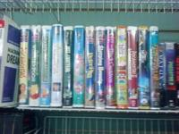 I have several Disney (clamshell) VHS movies for sale.