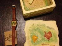 Two Darling collectible disney watch set watch and box