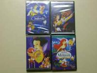 $5 per DVD!! Cinderella, Aladdin, Lion King, Beauty and
