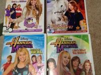 Disney Hannah Montana 4 DVD's, includes Keeping It