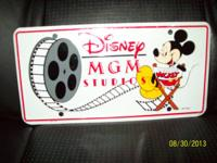 I have a vintage Disney MGM Studios license plate. It's