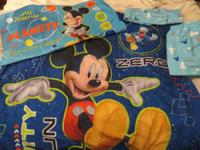 For Sale - 4 piece Mickey Mouse crib (toddler bed) set,