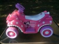 We have a Minnie Mouse Ride-On that our granddaughter