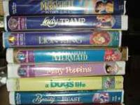 $5.00 each or 3 for $10.00 All Disney VHS movies in