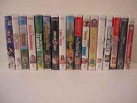 17 VHS Movies Titles Include: 101 Dalmatians, 102