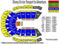 I have one ticket to Disney on Ice for Sunday, March 8