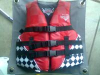 Disney pixar CARS life jacket for youth in very good