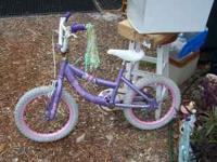 "Disney Princess 16"" Girls Bike - Purple and Pink Cute"