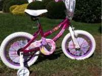 "12"" girls pink Disney princess bike in excellent"