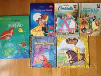 I have 5 hardcover Disney Princess book in excellent