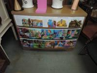 Disney Princess Chest of drawers with 3 cabinets -