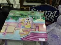disney princess childs table with a storage compartment