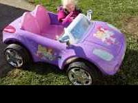 Here is a fabulous car for your little princess, It's a
