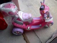 LIKE NEW motorized scooters for girls. With lights and