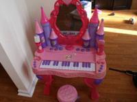 Disney Princess vanity keyboard. with music and lights.