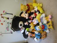 Disney character toys and others for sale. Small size