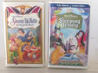 Disney Princess VHS, ALICE IN WONDERLAND, BEAUTY AND