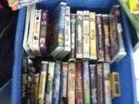 Disney movies and some spongebob, bible story set. Call