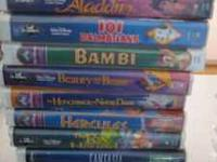I have Disney VHS movies. I can sell them all together