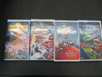 Hi, I have 4 Disney VHS tapes for sale. Pocahonitas -