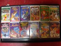 FOR SALE ARE A DOZEN ORIGINAL DISNEY VHS TAPES IN