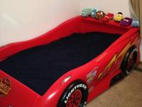 I have a twin size Lightning Mcqueen bed for sale. This