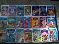 We have for sale a box of Disney VHS movies. All these