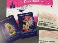 4 Disneyland all day hopper tickets. I bought these 2