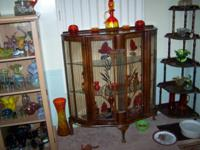 TWO DISPLAY CABINETS AND TWO CHINA CABINETS, FOR SALE