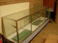 "GLASS CASE (20"" DEEP 38 1/4 HIGH 8FT LONG) COMES WITH"